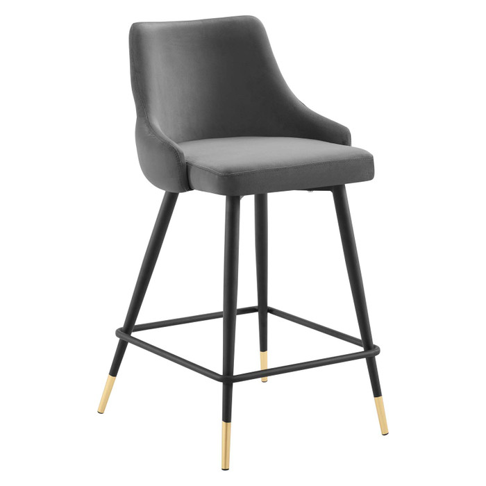 EEI-3908-GRY Adorn Performance Velvet Counter Bar Stool By Modway