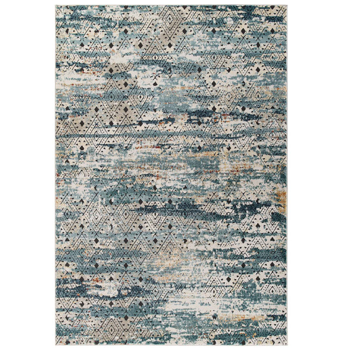 R-1192A-810 Tribute Eisley Rustic Distressed Transitional Diamond Lattice 8X10 Area Rug By Modway