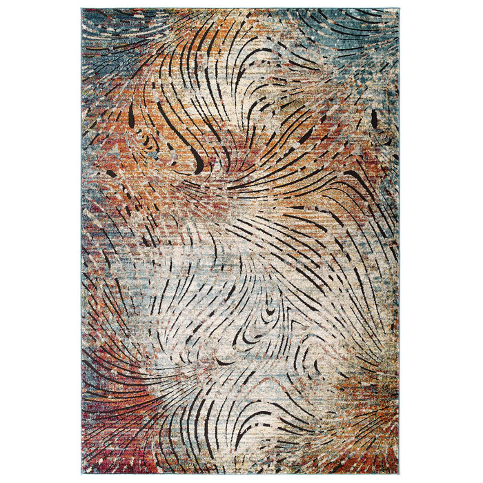 R-1193A-810 Tribute Ember Contemporary Modern Vintage Mosaic 8X10 Area Rug By Modway