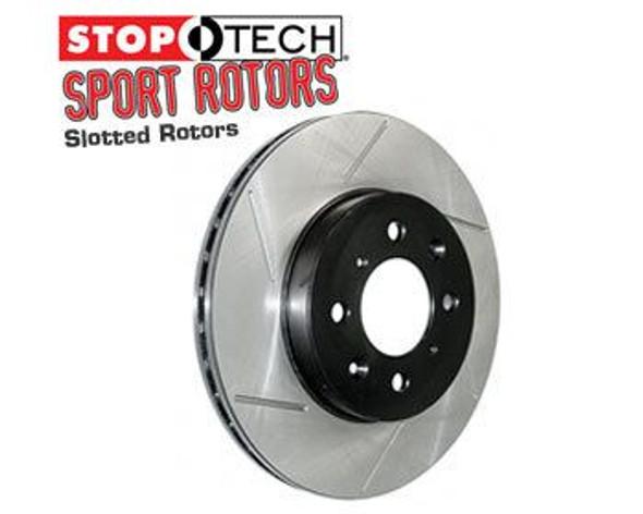 Remschijf voor rechts 2WD Stoptech Slotted Ram SRT-10 04/06