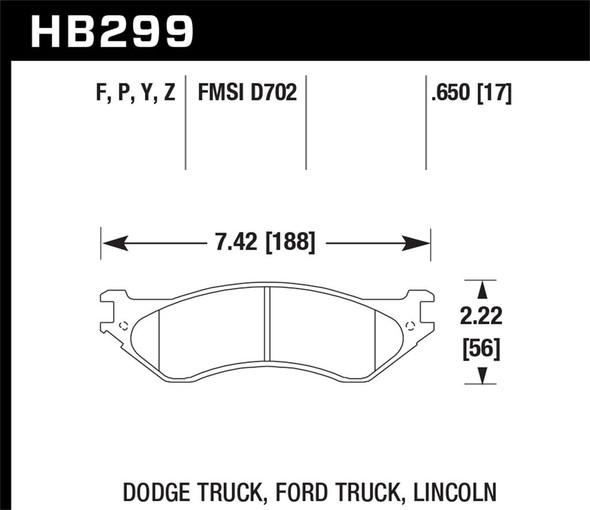 Dodge Ram remblokken voorkant