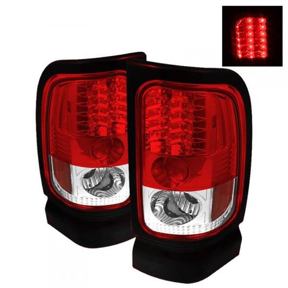 Dodge Ram  94-02 LED achterlichten rood helder SPYDER