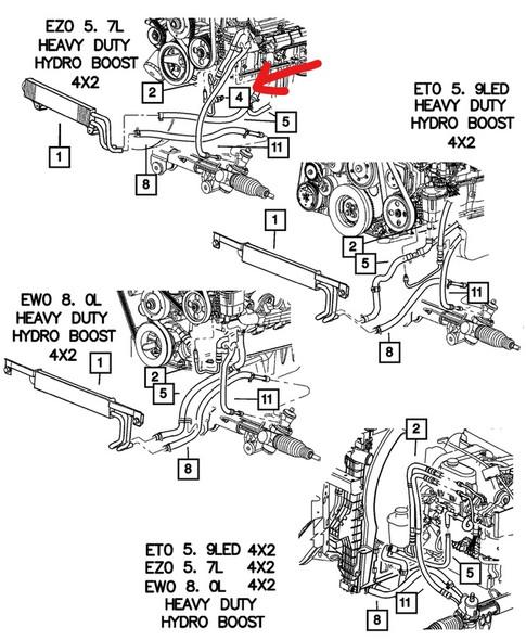 Dodge Ram stuurbekrachtiging sensor tekening