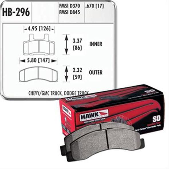 HAWK Superduty Remblokken voorzijde RAM 2500/3500 94/99