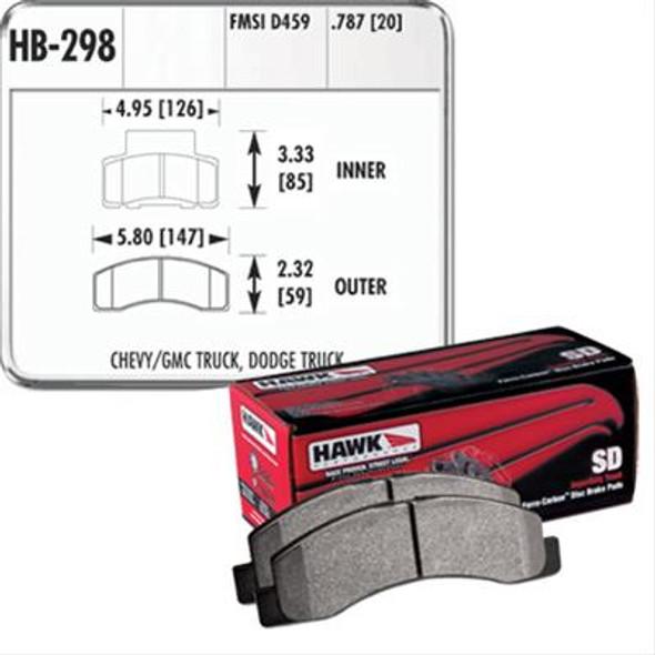 HAWK Superduty remblokken voorzijde RAM 2500 94/99 Dana 60