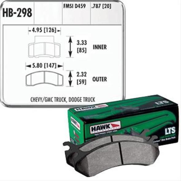HAWK LTS remblokken voorzijde RAM 2500 94/99 Dana 60