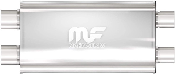 "Magnaflow demper 2x3"" in 2x3"" out Stainless"