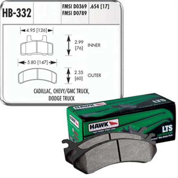 HAWK LTS Remblokken voorzijde RAM 1500 94/99
