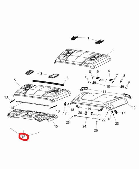 Dodge Ram indruk pin motorkap tekening