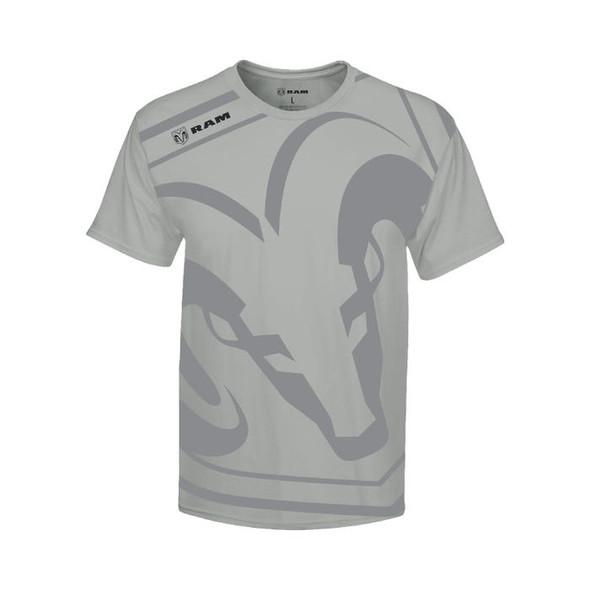 Heren T-Shirt Dodge Ram logo groot maat L