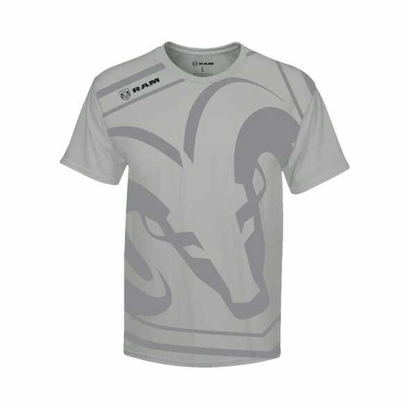 Heren T-Shirt Dodge Ram logo groot maat XL