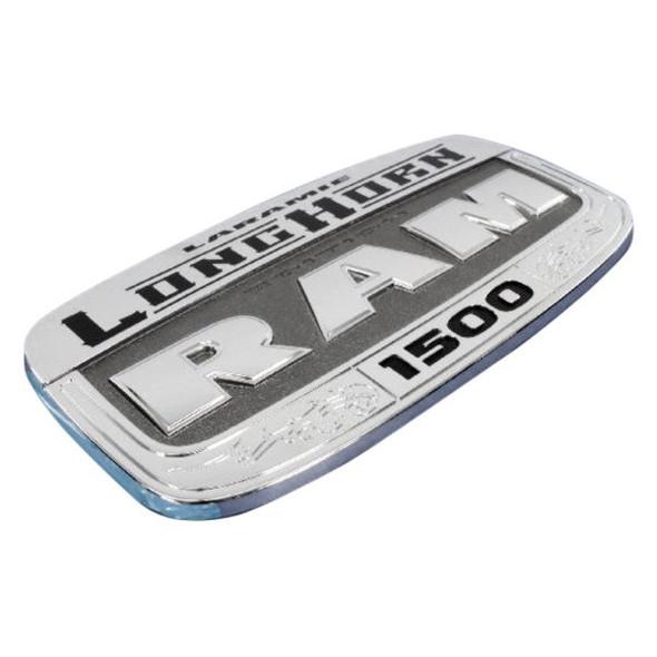 Logo voordeur LH ''Laramie Longhorn'' chroom