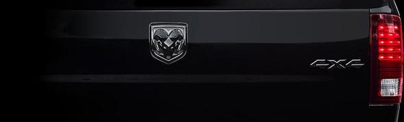 Logo achterklep 4x4 zwart