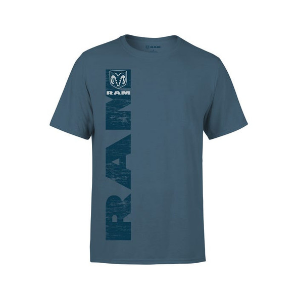 Mens shirt Vertical Print Blue Size L