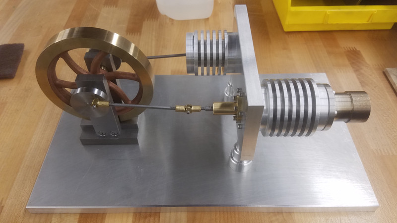 Stirling Engine Manual Lathe/Mill Assembly