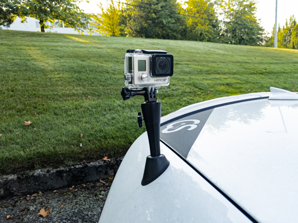 The CravenSpeed Antenna Camera Mount for 2015-2019 Ford Mustang Convertible
