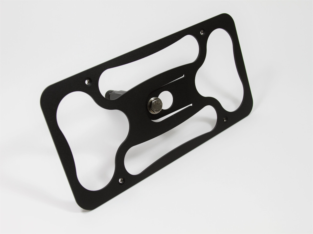 Front view of The Platypus License Plate Mount for 2007-2011 BMW 328i Sedan