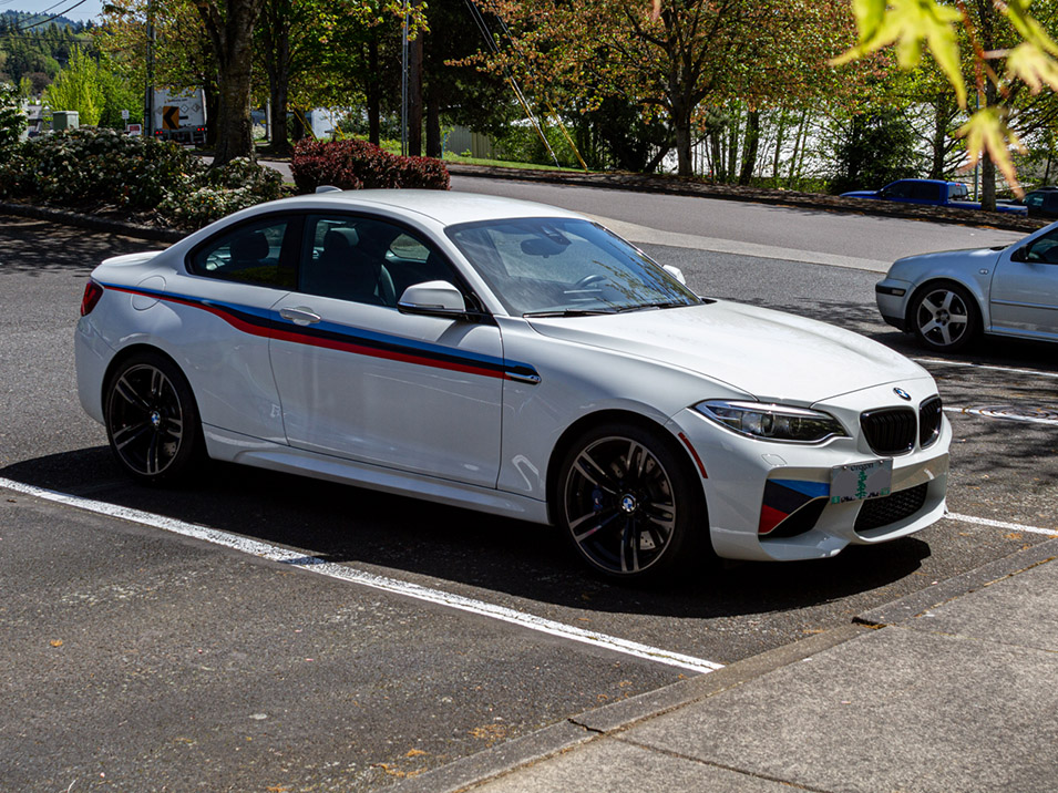 The Platypus License Plate Mount for 2016-2020 BMW M2