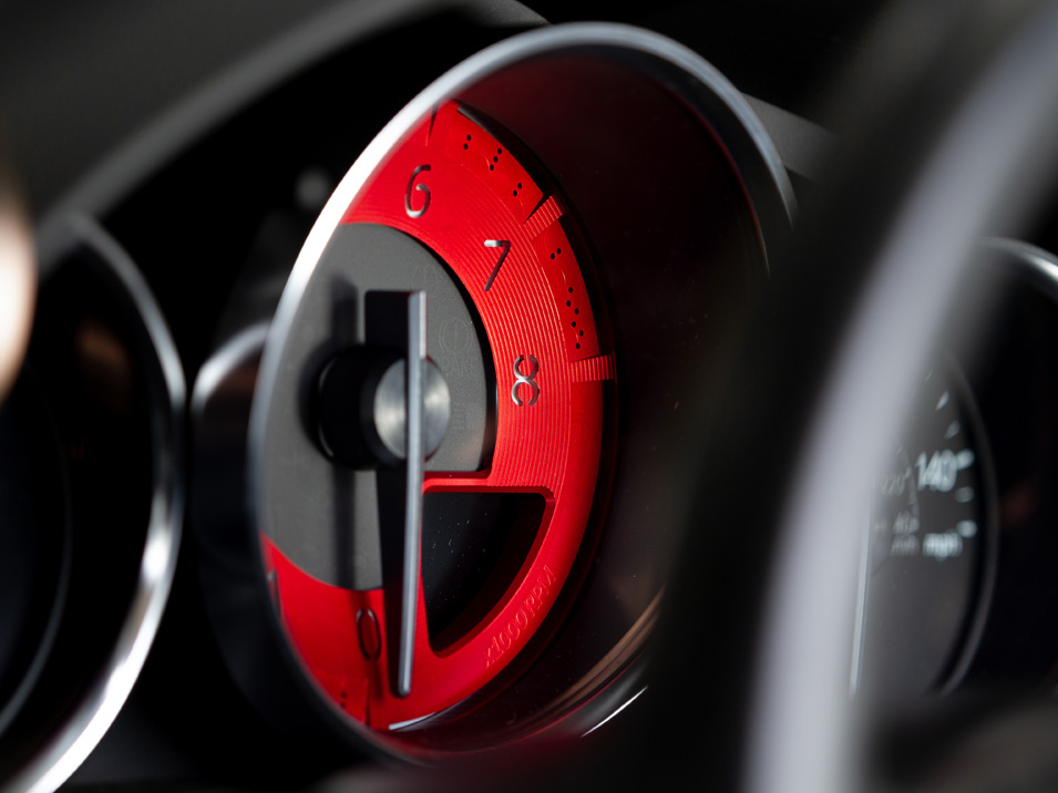 Red Edition Billet Tachometer Dial for ND Miata