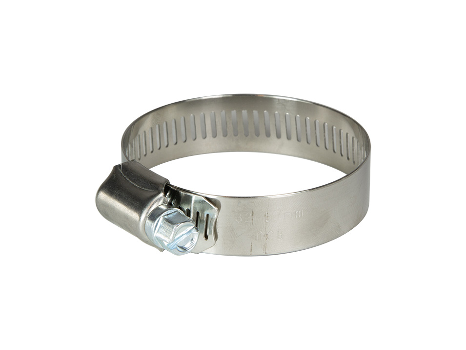 The hose clamp included with the Detroit Tuned modified supercharger bypass valve for the R53 MINI Cooper S.