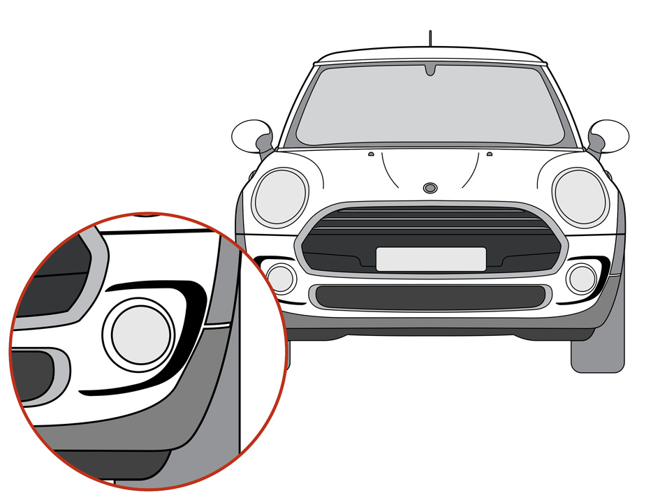 JCW Bumper Accent Decal Kit for MINI Cooper F56 2014-2020 on delta faucet diagrams, ge diagrams, cooper lighting diagrams,