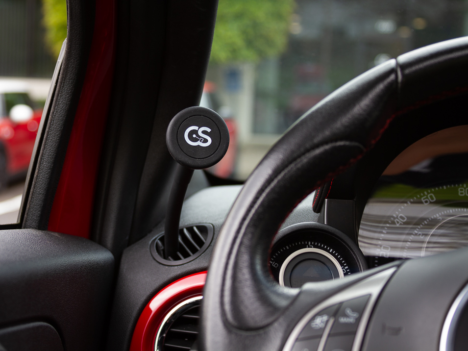 Magnet detail of the Gemini Mount for Fiat 500