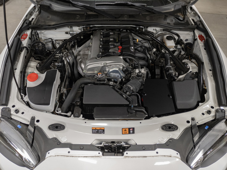 The CravenSpeed Battery Shield installed on a 2016 ND MX-5/Miata