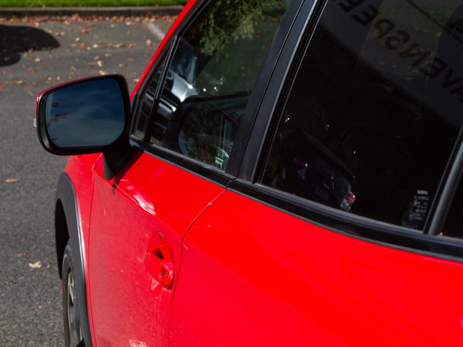 Image of driver's side Blackout Beltline Trim Kit for Subaru Crosstrek 2018-2021