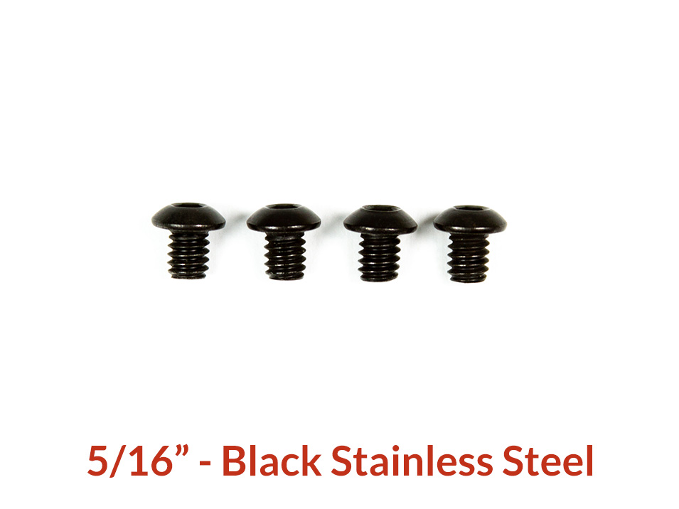 5/16 inch black stainless button head for CravenSpeed Platypus License Plate mount