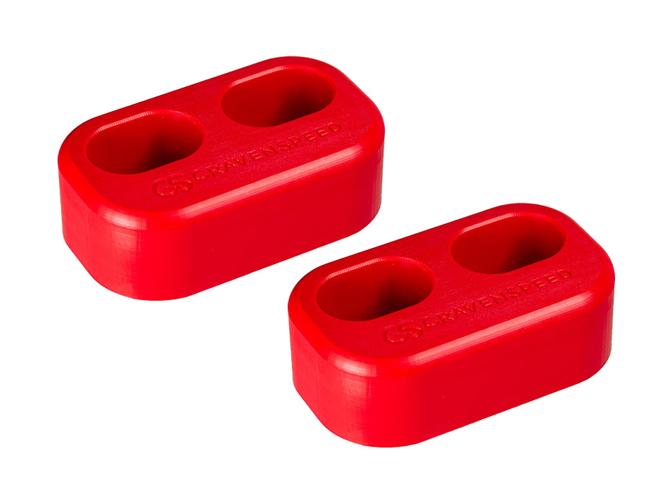 The CravenSpeed Door Bushings for the 2016-2019 Mazda Miata/MX-5 ND in red.