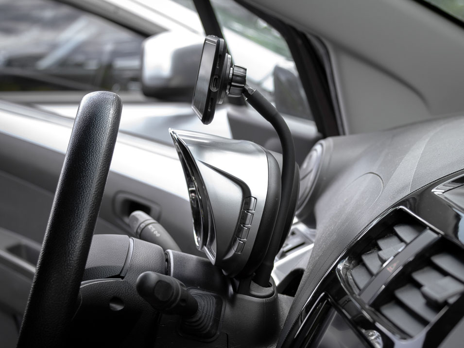 Right side view of the CravenSpeed Gemini Phone Mount for 2009-2015 Chevrolet Spark