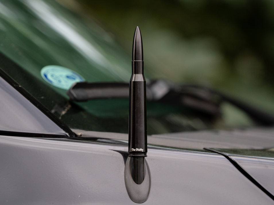 The Bullet Style Stubby Antenna by CravenSpeed installed on a 2018 Crew Cab F-150 FX4