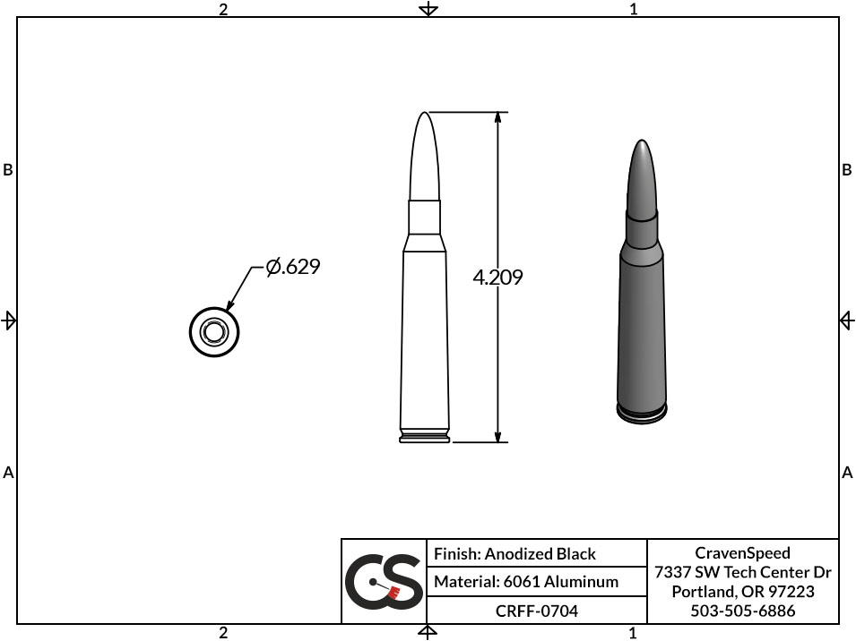 Image to Show Scale for CRFF-0704 Bullet Style Stubby Antenna for 2006-2014 GMC Canyon