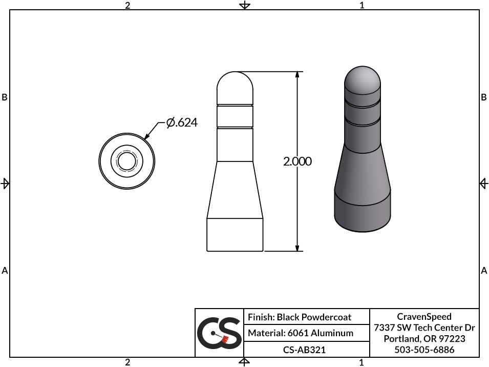 Image to Show Scale for CS-AB321 Stubby JR Antenna for 1999-2006 GMC Sierra