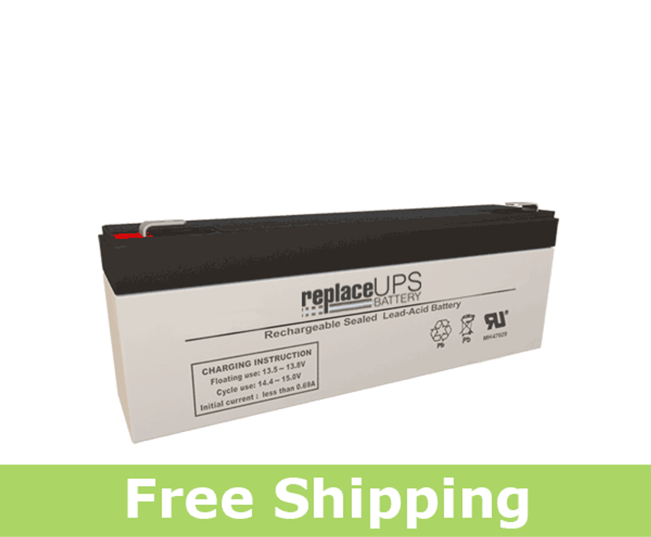 NB12-12HR 12 Volt 12 AmpH SLA Replacement Battery with F2 Terminal