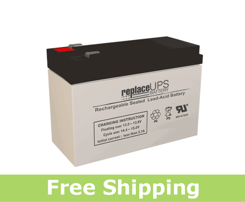 This is an AJC Brand Replacement Vision CP1270-F2 12V 7Ah Sealed Lead Acid Battery