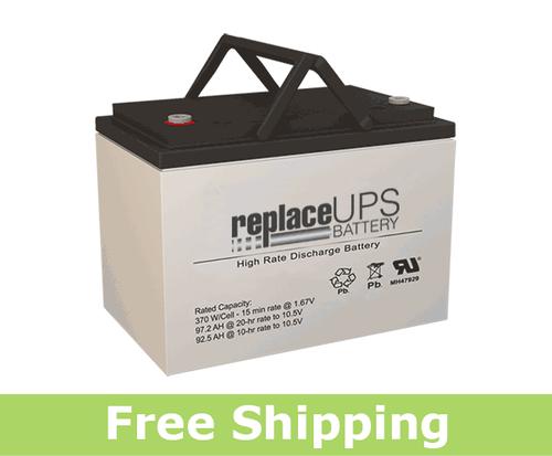 GNB S12V370 - High-Rate UPS Battery