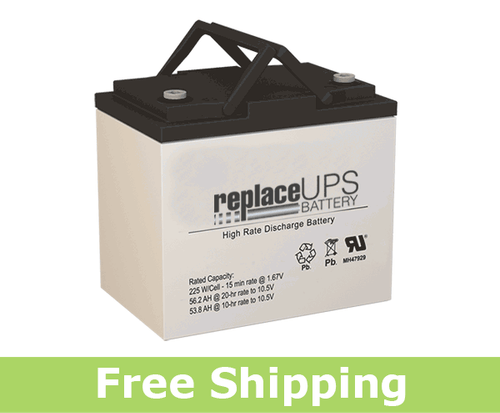 Power Battery PRC-1255S - High-Rate UPS Battery