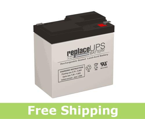 LightAlarms 1PG2X5E - Emergency Lighting Battery