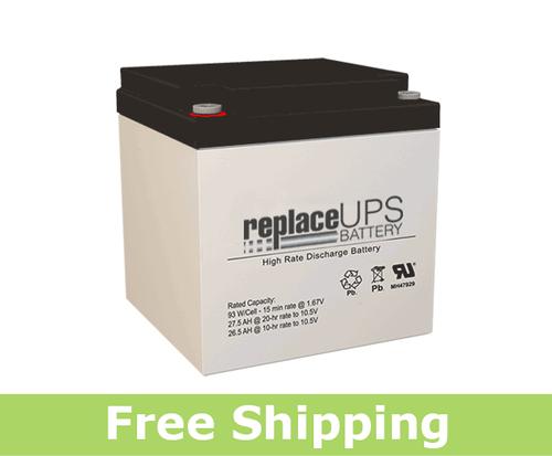 SigmasTek SPX12-100FR - High-Rate UPS Battery