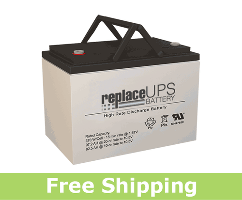SigmasTek SPX12-350FR - High-Rate UPS Battery