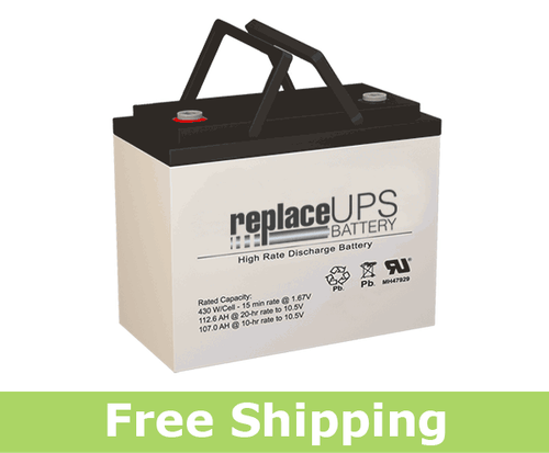 SigmasTek SPX12-400FR - High-Rate UPS Battery