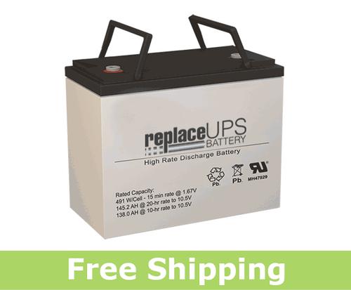 SigmasTek SPX12-500FR - High-Rate UPS Battery