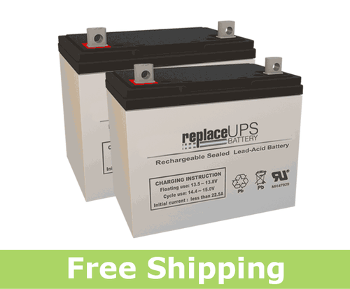 Replacement  Batteries for Permobil® Chairman™ Entra™ (Set of 2)