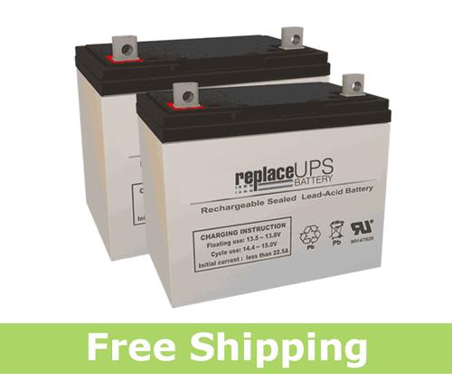 Replacement  Batteries for Permobil® Robo™ Miniflex (Set of 2)