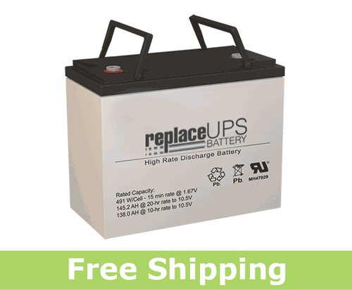 Gruber GPS12-140-I - High-Rate UPS Battery