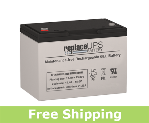 Power Sonic DCG12-85 - GEL Battery