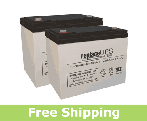 Replacement  Batteries for Permobil® Street™ (Set of 2)