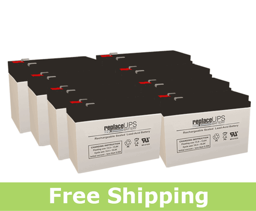Dell 2700W R/T HV (J727N) Replacement Batteries (Set of 8)