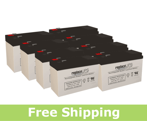 APC / Dell Smart-UPS 3000 Rack Mount 3U (DL3000RM3U) Replacement Batteries (Set of 8)